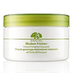 Origins - Modern Friction Instant brightening pads - use at night so you don't have red face in the morning . Amazing cleanser - never without X