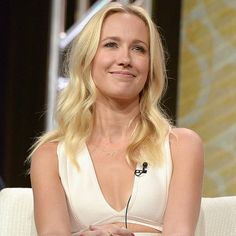 Beauty Anna Camp at the TCA 2016 wearing an EF Collection diamond white topaz triple triangle necklace! 💛 Xo, EF