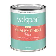 Shop Valspar Chalky Paint Interior Flat Tintable White Latex-Base Paint (Actual Net Contents: 29-fl oz) at Lowes.com