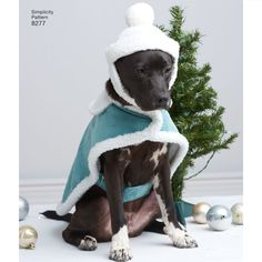 Keep your furry friends warm and stylish this winter in these fleece dog coats in S, M, and L sizes. Click envelope back for sizing detail. Pattern includes ugly sweater dog coat so your dog can join in on the fun at the holiday party! Patty Martin for Simplicity sewing patterns.