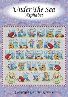 Cross Stitch Pattern - Under The Sea Alphabet