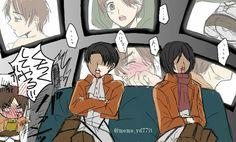 Emorrajia nasal por Eren Levi y Mikasa Eren E Levi, Eren X Mikasa, Attack On Titan Comic, Attack On Titan Ships, Anime Guys, Manga Anime, Ciel Nocturne, Ereri, Cute Gay