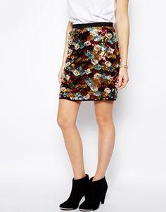 Image 4 ofJovonna Asye Sequin Skirt