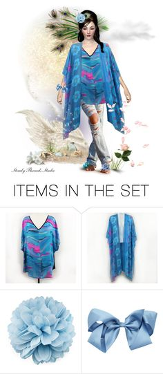 """Spread a Little Magic Wherever You Go"" by debschlier ❤ liked on Polyvore featuring art, Blue, magic, beaches, kimono and polyvoreeditorial"