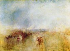 Turner, Joseph Mallord William: Bootszug mit entferntem Rauch, Venedig (Procession of Boats with Distant Smoke, Venice)