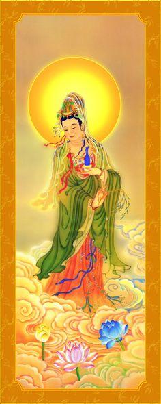 A Di Da Phat Quan The Am Guanyin Buddha 862 by kwanyinbuddha on deviantART Buddha Temple, Buddha Buddhism, Buddha Art, Chinese Buddha, Chinese Art, Qi Gong, Tibetan Art, Korean Art, Guanyin