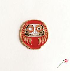 Image of Red Daruma Pin