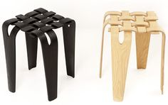 Weave Stool by William Warren Wooden Furniture, Cool Furniture, Furniture Design, Milking Stool, Milan Design, New Crafts, Take A Seat, Sustainable Design, Modern Chairs