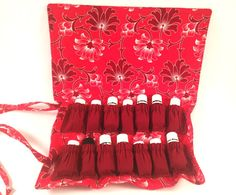 Rollup Essential Oil Pouch   Keep your oils with you on the go!  Perfect for travel, or everyday use!