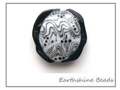 SALE Handmade lampwork glass bead Crazy Waves by Earthshinebeads, £12.00