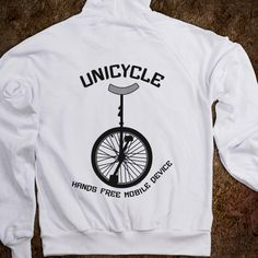 """Love this Jacket! """"Unicycle: Hands free mobile device"""""""
