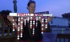 My BFF made this Birthday bat with my families bdays on it..since I'm a Cardinal fan..that's the theme!! LOVE it!!