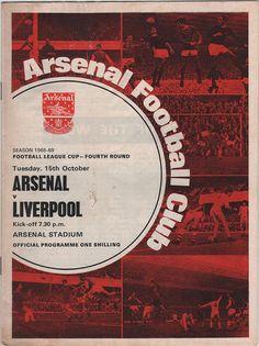 Vintage Football Programme - Arsenal v Liverpool, League Cup, 4th Round, 1968/69 season, by DakotabooVintage on Etsy, £2.99