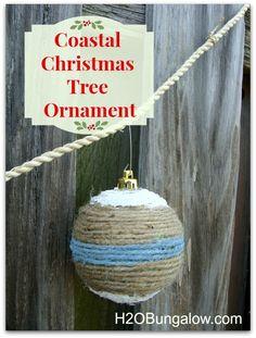 Coastal Christmas Tree Ornament