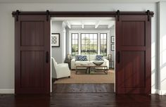 It's easy to understand the appeal of barn-style doors. Beyond providing a fresh look for entry ways, they save space because they don't need to open into a room. Barn-style doors hang from an exposed track, rolling along to be...