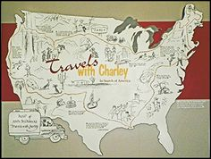 Travels with Charley truck | Map showing the route of Travels with Charley