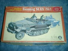 1970s Nitto  1-35 Scale Hanomag Sd Kfz251-1 (MOTORIZED) Model (MOTOR MISSING) by MyHillbillyWays on Etsy