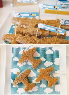 airplane sandwiches