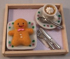 Handmade Gingerbread Man & Coffee