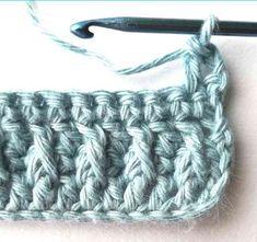 Alpine stitch - Nordic Hook Manta Crochet, Tunisian Crochet, Crochet Stitches, Crochet Hooks, Free Crochet, Knit Crochet, Crochet Blanket Patterns, Baby Blanket Crochet, Cross Stitch Patterns