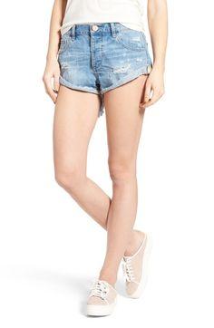 One Teaspoon Bandits Denim Shorts (Blue Bone) available at #Nordstrom