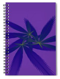 Herb Spiral, Notebooks For Sale, Blue Green, Purple, Fractals, Herbs, Artwork, Prints, Color