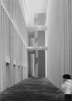 Zumthor's Topographie des Terrors visual history of. Space Architecture, Architecture Drawings, Sustainable Architecture, Ancient Architecture, Peter Zumthor, Halle, Concrete Light, Interesting Buildings, Interiors