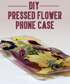 Make a phone case with pressed flowers