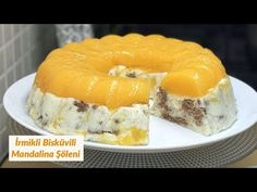 İrmikli Bisküvili Mandalina Şöleni - Naciye Kesici - Yemek Tarifleri - YouTube Doughnut, Mandala, Cheese, Orange, Youtube, Desserts, Food, Tailgate Desserts, Deserts