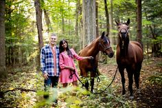 Fall engagement photography with horses in Saratoga Springs NY | Tracey Buyce Horse and Wedding Photography