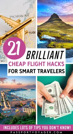 Want to travel more this year? Check out these budget-friendly hacks to finding the best cheap flights - EVERY time! This super helpful guide includes 21 of some of the smartest & most creative secret hacks for finding cheap flights (shared by travel experts) that will help you explore the world more. #cheapflights #budget #budgeting #newyear #resolutions #goals #travelmore #budgettravel #travel