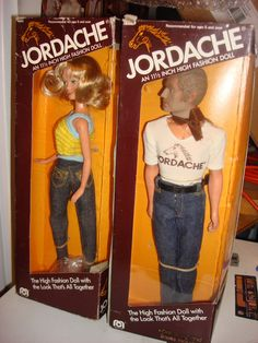 I had both of these Jordache dolls. I just had no idea how fabulously 80's gay he was.  It probably explains why he lived with GI Joe on the floor of my closet (not kidding) & not in the Barbie Townhouse.