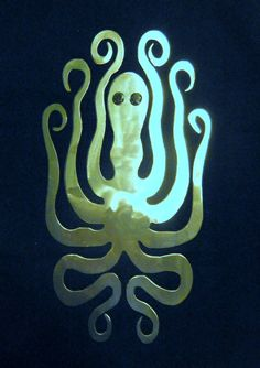 Octopus Metal Art by MetalArtXpressions on Etsy, $35.00