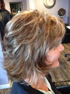 Short layered cut with highlights!
