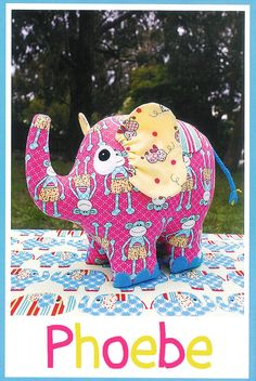 Hey, I found this really awesome Etsy listing at https://www.etsy.com/listing/227246148/pattern-phoebe-elephant-soft-sculpture