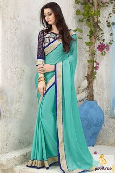 Attractive sizzling with turquoise satin embroidery saree online shopping with cheapest price. Purchase this plain saree with free shipping charges and COD in India. Diwali Special Discount Offer:  5% OFF FOR Buy 1 Product 10% OFF FOR Buy 2 Product 15% OFF FOR Buy 3 Product or more #saree, #embroiderysaree, #partywearsaree, #satinpartysaree, #onlinesareeshopping, #chiffonsaree #discountoffer,  #plainpartysaree http://www.pavitraa.in/store/embroidery-saree/ callus: +91-7698234040