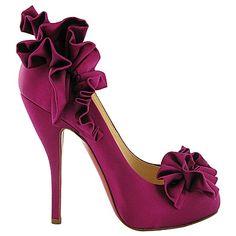 Christian Louboutin violet stilettos