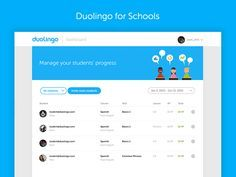Today, we launched a new feature aimed at schools. We want to provide teachers and parents with tools to make it easier to use Duolingo in the classroom.  Check it out! https://www.schools.duolingo...