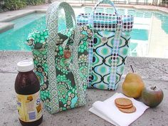 sewing belly buttons boutique: LUNCH BAG TUTORIAL.  Made as teacher gifts.