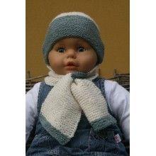 Babymuts met sjaal breipatroon