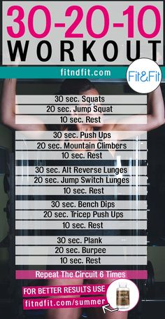 The 30-20-10 Workout to Burn Fat and Build Muscle! #fitness #bodybuilding #workout #gym #weightloss #fatloss #loseweightfast #love #new #pinterest #london #newyork #uk #newyork #losangeles