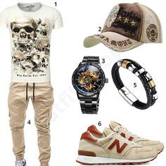 Beiges Männer-Outfit mit Cargo-Chino (m0399) #outfit #style #fashion #menswear #mensfashion #inspiration #shirts #cloth #clothing #männermode #herrenmode #shirt #mode #styling #sneaker