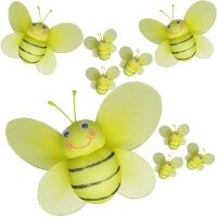 Mini Bumble Bee Decoration Hanging Nylon By ButterflyGrove