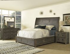 Bring in the new year with a classic.   #cozy #warm #beds #classic #newyear #winter #rcwilley #furniture #dresser #bedroom #nightstand #mirrors