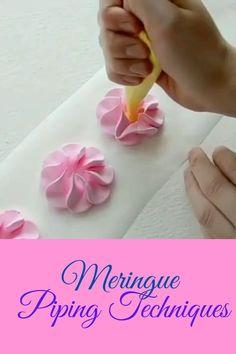 Meringue Desserts, Meringue Cookies, Cupcake Cookies, Cake Icing Tips, Buttercream Cake, Cake Decorating Techniques, Cake Decorating Tips, Chocolate Birthday Cake Decoration, Cake Albums