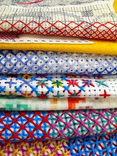 Rachel Parker Têxtil artista - Explorations em ponto