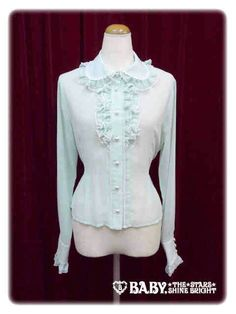 Petit Frill Chiffon Blouse in mint, Baby the Stars Shine Bright 2014