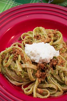 Broccoli Pesto ~ Guest Post at Total Noms | The Girl in the Little Red Kitchen