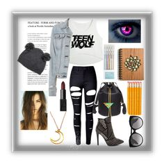"""""""Teen Wolf"""" by sallozsofi ❤ liked on Polyvore featuring rag & bone, NARS Cosmetics, WithChic and Alexander McQueen"""