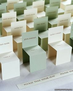 """See the """"""""Seating"""" Cards"""" in our Creative Seating Cards and Displays gallery"""